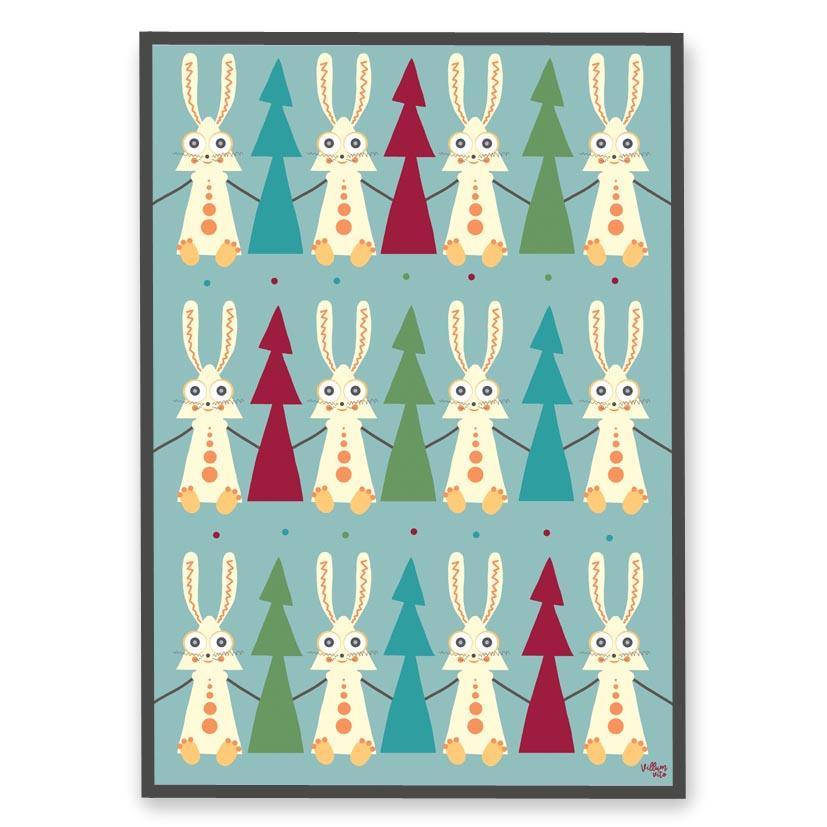 Plakat Haren & træet fra Villum Vito til børn