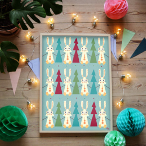 Plakat med Haren og træet fra Villum Vito - plakater til børn