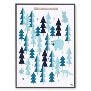 Plakat Den blå skov fra Villum Vito til børn og barnlige sjæle kun 299 kr.